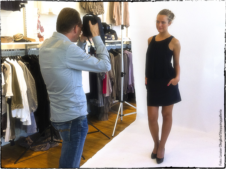Modefotografering för Shoppinggalleria